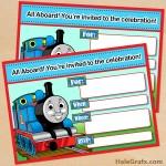 FREE Printable Thomas the Tank Engine Birthday Invitation
