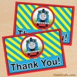 FREE Printable Thomas the Tank Engine Thank You Card