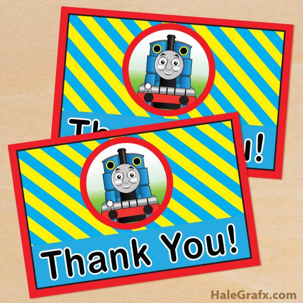 FREE Printable Thomas the tank engine Thank You Card
