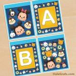 FREE Printable Disney Tsum Tsum Alphabet Banner Pack