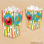 FREE Printable Elmo Popcorn Box