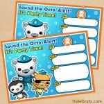 FREE Printable Octonauts Birthday Invitation