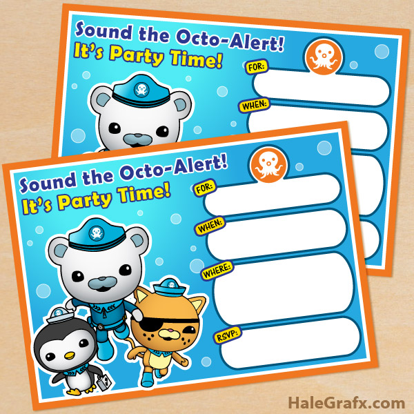 graphic relating to Octonauts Printable known as Totally free Printable Octonauts Birthday Invitation