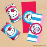 FREE Printable Hello Kitty Mini Candy Bar Wrappers
