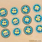 FREE Printable Kawaii Minions Cupcake Toppers