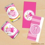 FREE Printable Princess Fairy Peppa Pig Mini Candy Bar Wrappers