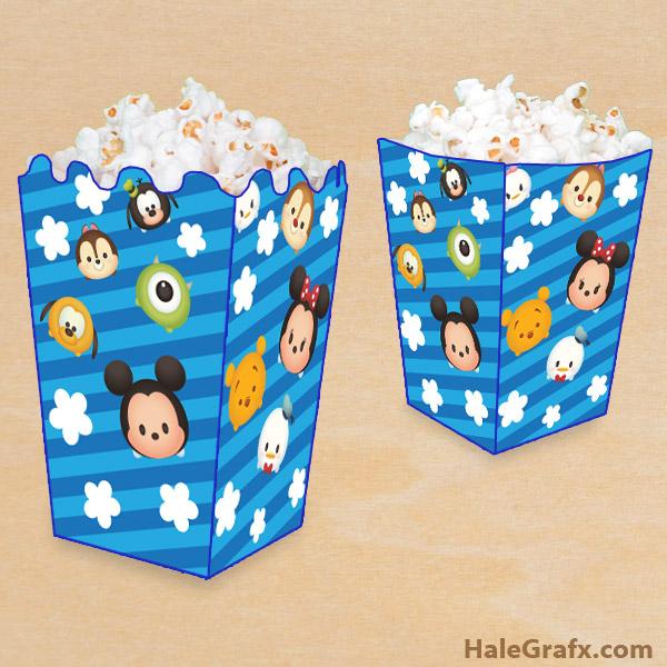 FREE Printable Disney Tsum Tsum Popcorn Box