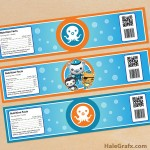 FREE Printable Octonauts Water Bottle Labels