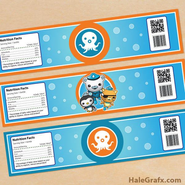 picture relating to Octonauts Printable titled Free of charge Printable Octonauts H2o Bottle Labels