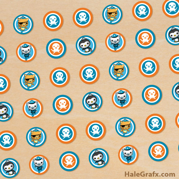 image relating to Octonauts Printable known as Free of charge Printable Octonauts Hersheys Kisses Stickers