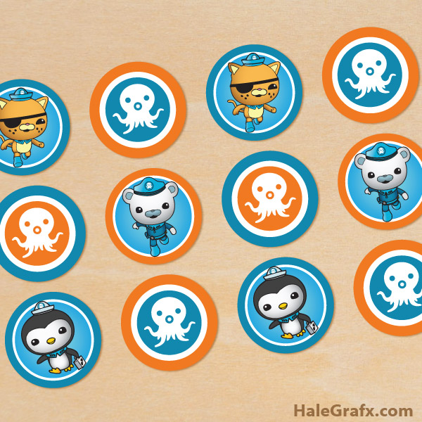 photograph regarding Octonauts Printable titled No cost Printable Octonauts Cupcake Toppers