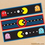FREE Printable Retro Pac-man Water Bottle Labels