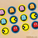 FREE Printable Retro Pac-man Cupcake Toppers