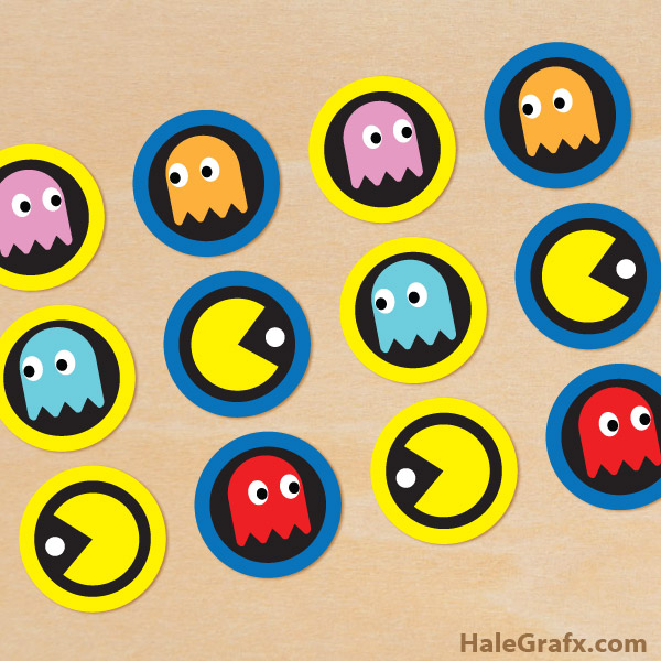 It is an image of Critical Pac Man Printables