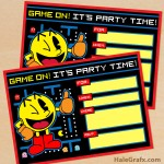 FREE Printable Retro Pac-man Birthday Invitation