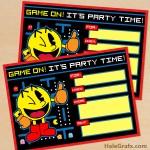 FREE Printable Retro Pac-man Birthday Invitation