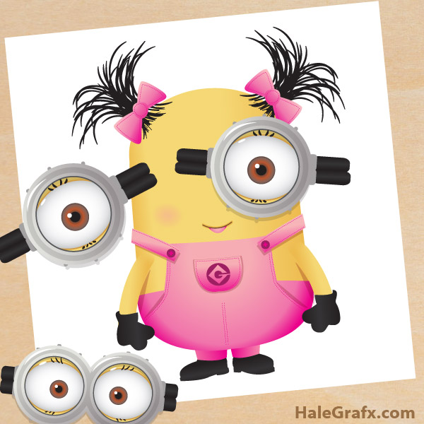 photograph regarding Minion Goggle Printable called Totally free Printable Pin the Goggles upon the Woman Minion