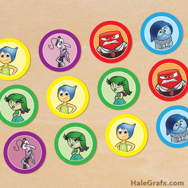 It is an image of Remarkable Inside Out Cupcake Toppers