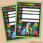 FREE Printable Disney Pixar Inside Out Birthday Invitation