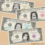 FREE Printable Minion Large Bill Play Money Pack