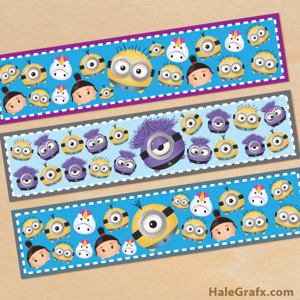 FREE Printable Minion Tsum Tsum Water Bottle Labels