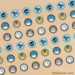 FREE Printable Totoro Hershey's Kisses Stickers