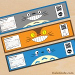FREE Printable Totoro Water Bottle Labels