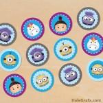 FREE Printable Minion Tsum Tsum Cupcake Toppers