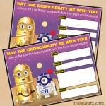 FREE Printable Star Wars Minion Birthday Invitation