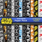 FREE Star Wars Digital Paper Pack