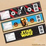 FREE Printable Star Wars Water Bottle Labels