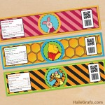FREE Printable Winnie the Pooh Water Bottle Labels