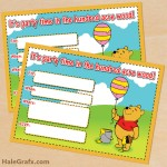FREE Printable Winnie the Pooh Birthday Invitation