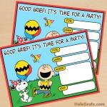 FREE Printable Peanuts Birthday Invitation