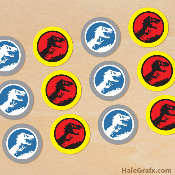 FREE Printable Jurassic Park Cupcake Toppers
