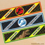 FREE Printable Jurassic Park Water Bottle Labels