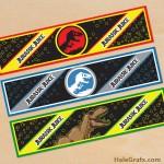 FREE Printable Jurassic Park Water Bottle Labels