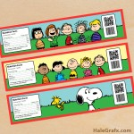 FREE Printable Peanuts Water Bottle Labels