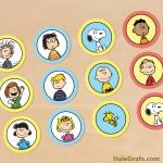 FREE Printable Peanuts Cupcake Toppers