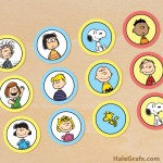 FREE Printable Peanuts Cupcake Toppers
