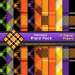 FREE Halloween Plaid Digital Paper Pack