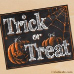 FREE Printable Halloween Trick or Treat Chalkboard Art