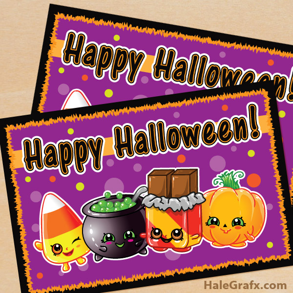 FREE Printable Shopkins Halloween Card