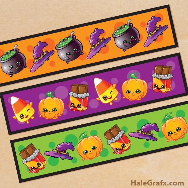 FREE Printable Halloween Shopkins Water Bottle Labels