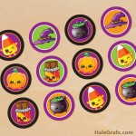 FREE Printable Halloween Shopkins Cupcake Toppers