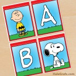 FREE Printable Peanuts Alphabet Banner Pack