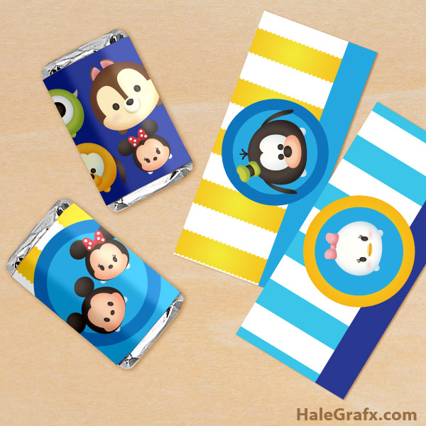FREE Printable Tsum Tsum Mini Candy Bar Wrappers