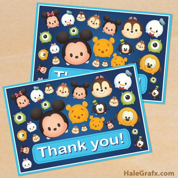 FREE Printable Tsum Tsum Thank You Card