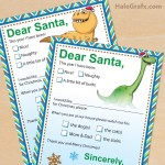FREE Printable The Good Dinosaur Letters to Santa Claus