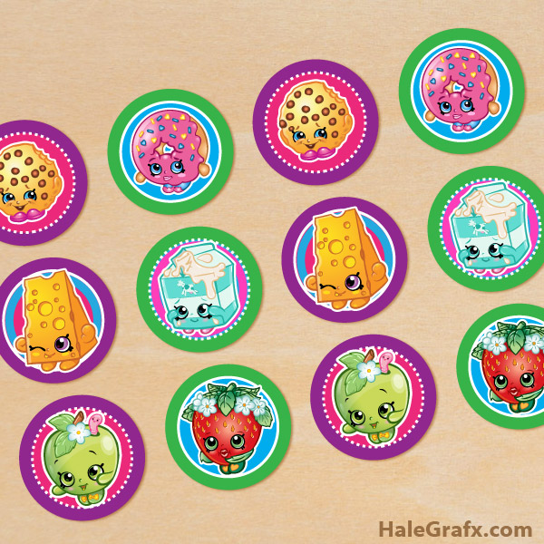 picture regarding Printable Shopkins Pictures known as Free of charge Printable Shopkins Cupcake Toppers